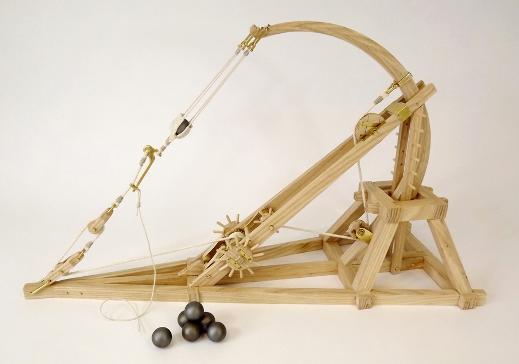 Как сделать из дерева катапульту схема